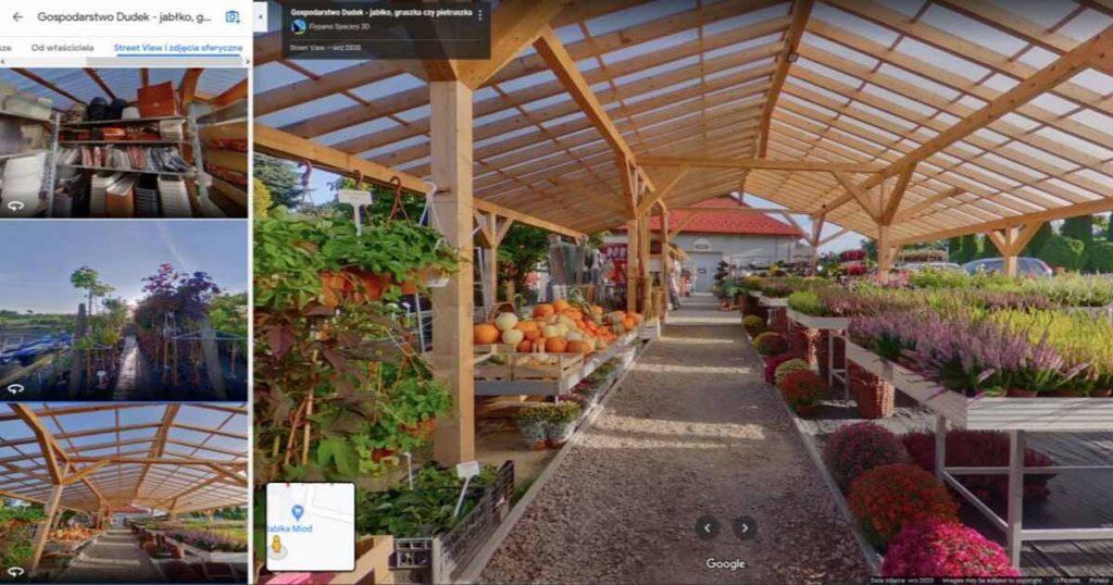 Wirtualny spacer Google dla firm