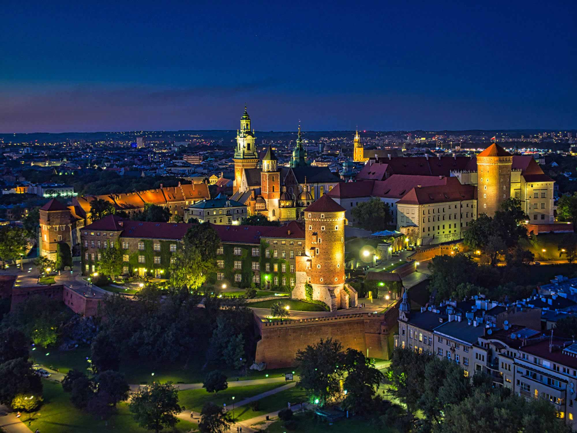 Wirtualny spacer Wawel z lotu ptaka