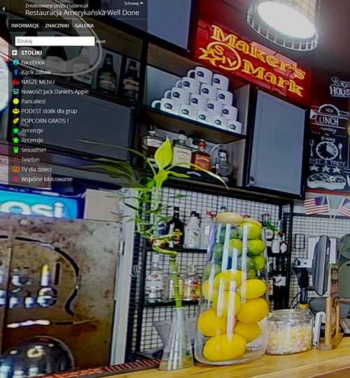 Wirtualny spacer Matterport po restauracji