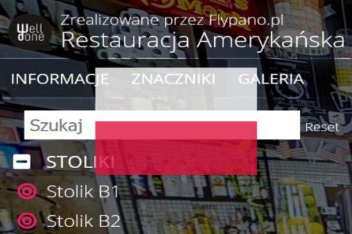Wirtualny spacer Matterport polskie menu